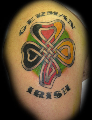 Black and Gray tattoos Tattoos celtic shamrock