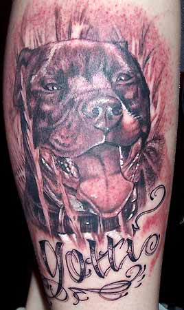 Blood Tattoo Dog