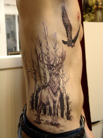 Comments: This is a front view of this heritage tattoo.