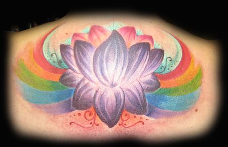 Looking for unique Tattoos? Calgary Rainbow Lotus Click to view large image