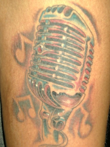 old school microphone tattoos. free tattoo flash pics aztec symbols tattoos