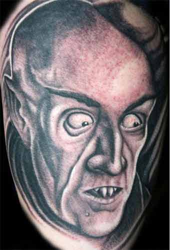 Mario Bell - Vampire Large Image. Keyword Galleries: Black and Gray Tattoos,