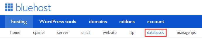bluehost-database