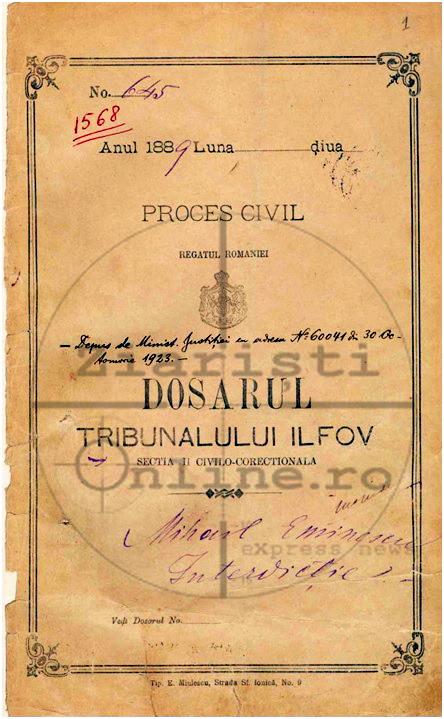 Dosarul de Interdictie al lui Eminescu - Const Barbu - Ziaristi Online