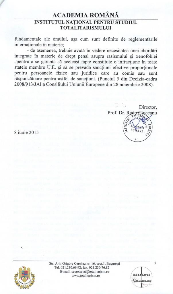 Academia Romana INST despre Miscarea Legionara 03 Iunie 2015 - Camera Deputatilor - Ziaristi Online