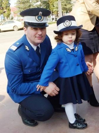 Jandarmii au sărbătorit în centru orașului