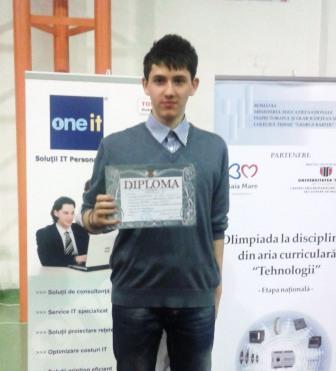 Al treilea din țară în concursul elevilor electroniști