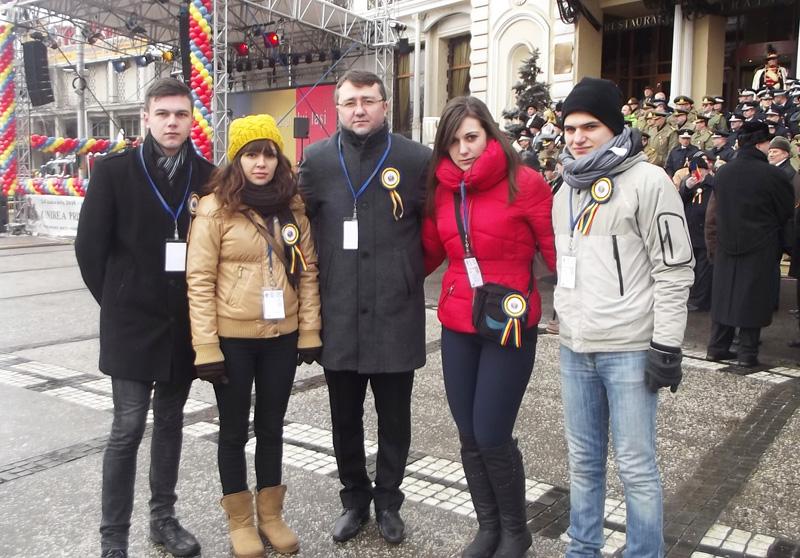 Ambasadori romaşcani la sărbătoarea micii Uniri
