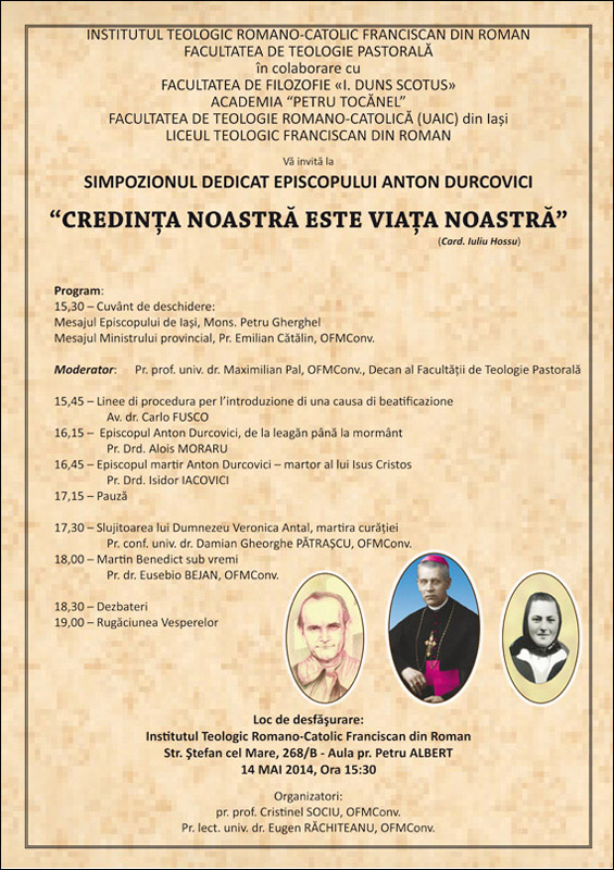 Simpozion dedicat episcopului Anton Durcovici