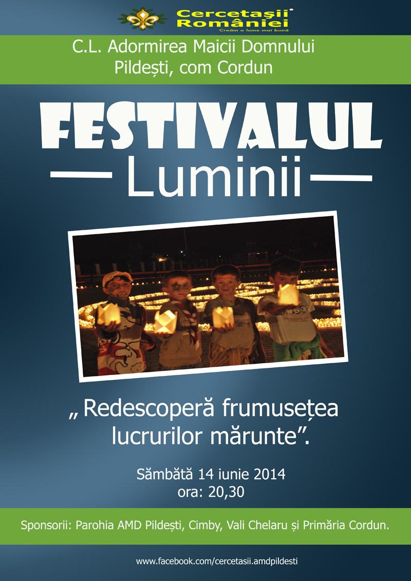 """Cercetaşii din Pildeşti organizează """"Festivalul Luminii"""""""