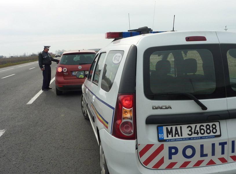 Peste 650 de șoferi sancționați de polițiști, într-o săptămână