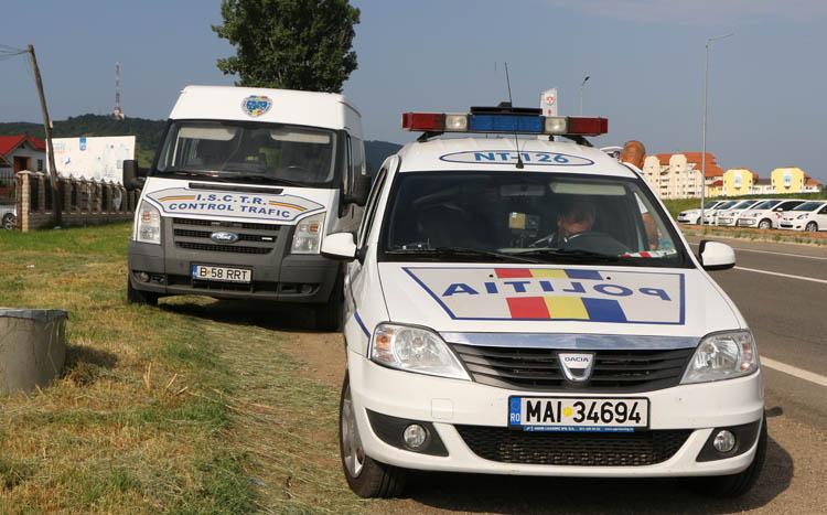Sute de sancţiuni aplicate de poliţişti într-o singură zi, pe drumurile din Neamţ