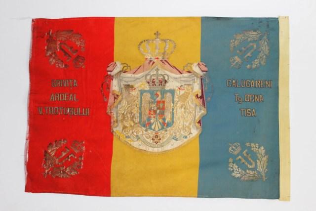 """Drapelul Regimentului 14 Dorobanți """"Roman"""" - model 1922"""