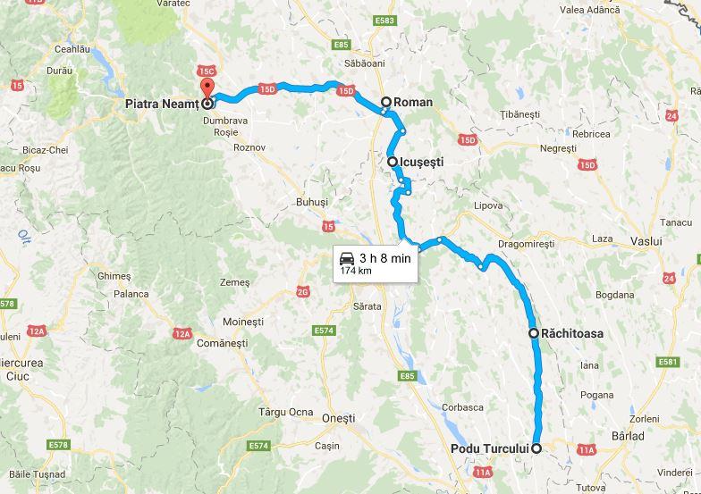 Soluţii pentru reabilitarea traseului Piatra Neamţ – Roman – Icuşeşti – Răchitoasa – Podu Turcului