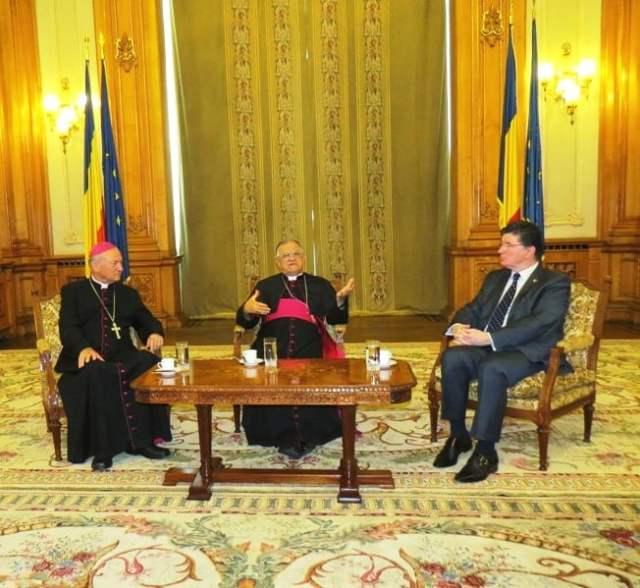 senator Ioan Chelaru intalnire Patriarh Ierusalim 2