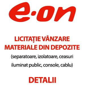 E-ON – Licitație vânzare materiale din depozite