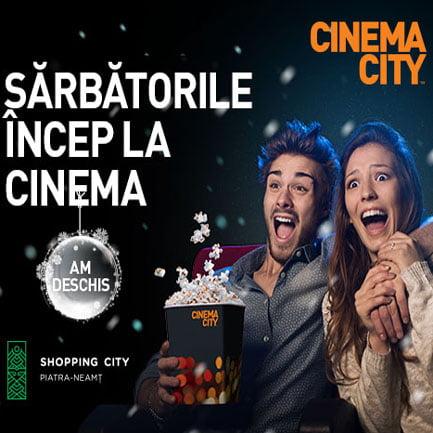 Din 6 decembrie, Cinema City a deschis primul multiplex în Neamţ