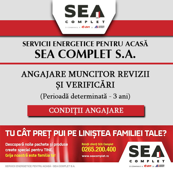 SEA COMPLET SA angajează MUNCITOR REVIZII ȘI VERIFICĂRI