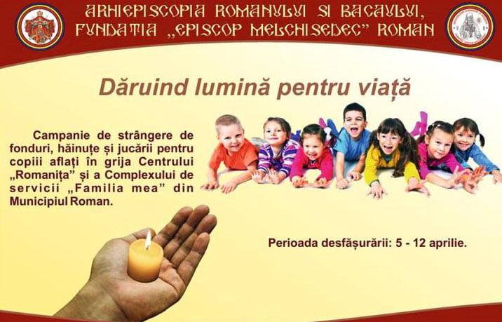 """""""Dăruind lumină pentru viață!"""" – campanie de strângere de fonduri, haine și jucării pentru copii"""