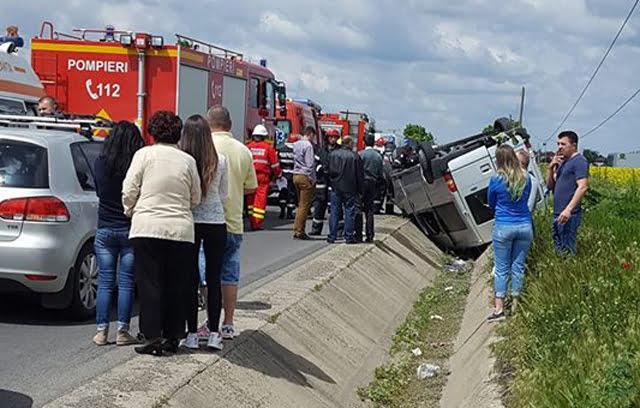 Accident cu trei victime, pe E85