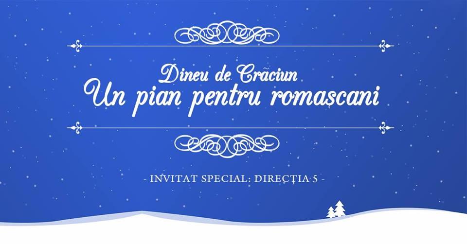 """""""Un pian pentru romașcani"""", cu invitați speciali – formația Direcția 5"""