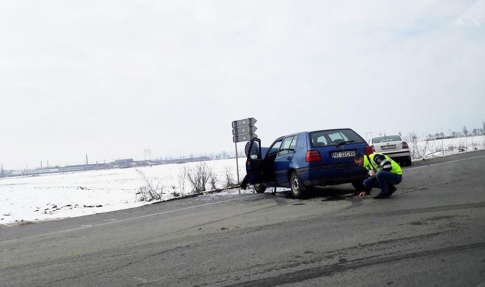 Accident rutier pe E85, la intersecția cu drumul spre Tămășeni