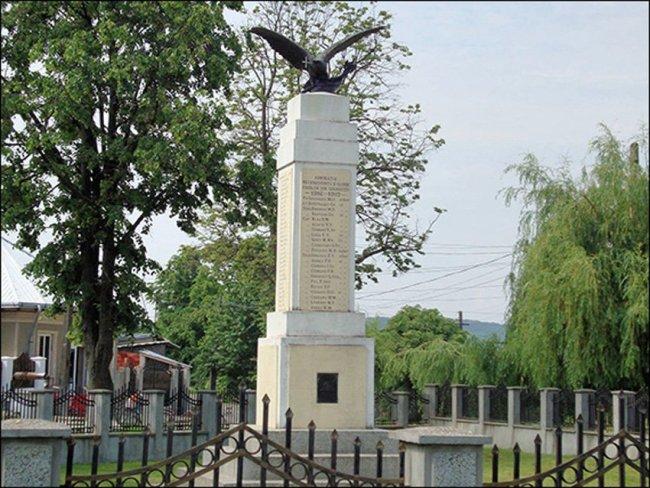 Monumentul din Gherăești dedicat eroilor căzuți în Primul război mondial