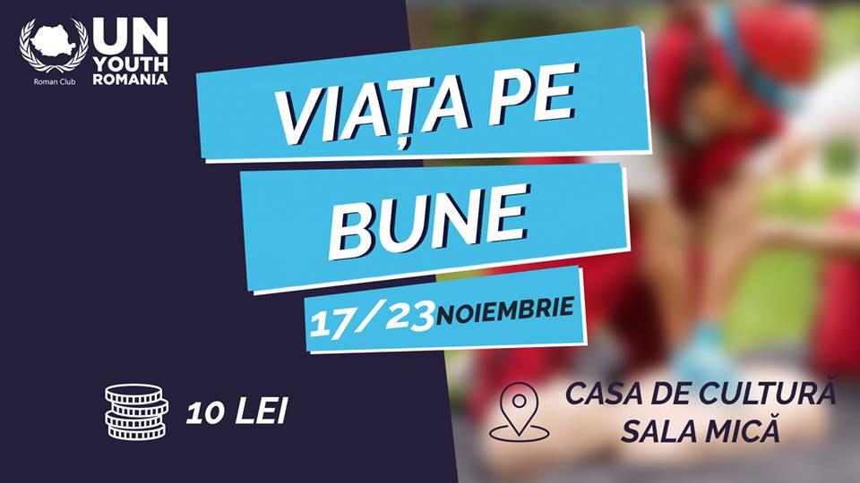 """Proiectul """"Viața pe bune"""", cursuri de prim ajutor organizate de Asociația Tineretul ONU din România – Club Roman"""
