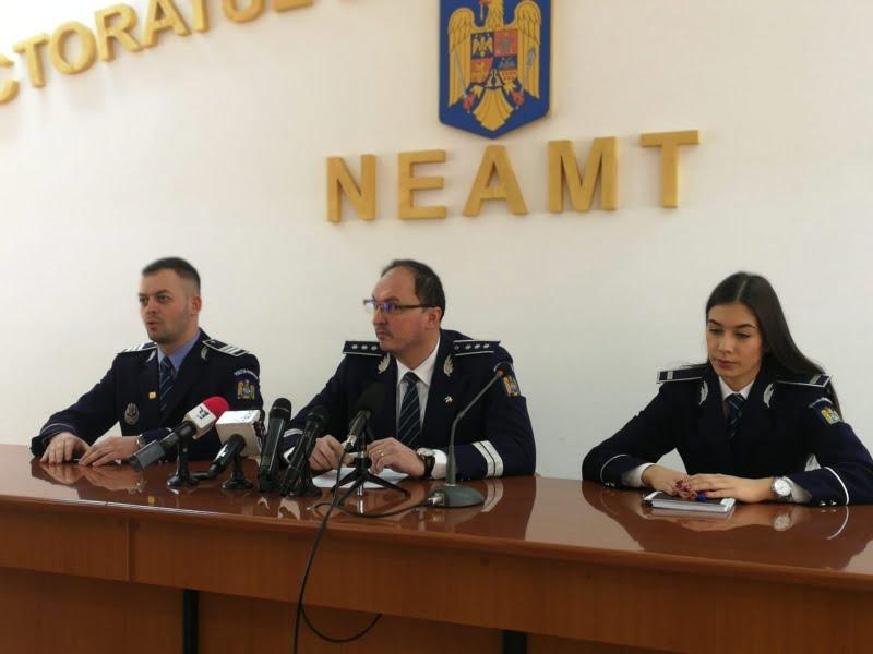 Bilanțul IPJ Neamț: infracționalitatea stradală, în scădere în 2018