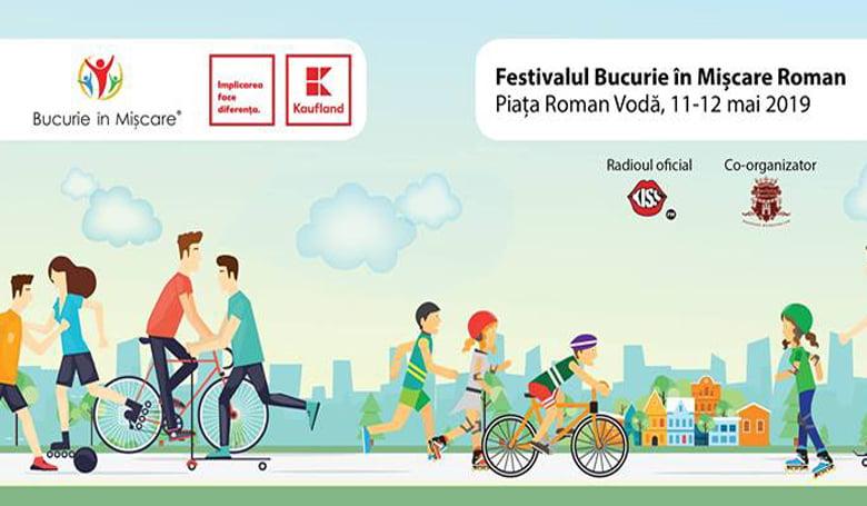 """Festivalul """"Bucurie în Mișcare"""", două zile de evenimente la Roman"""