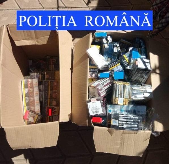 Percheziție la Tămășeni, peste 8.000 de țigări confiscate