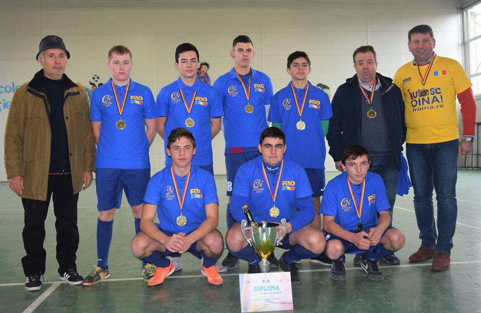 Juniorii I ai Biruinței Gherăești, campioni naționali la oină în sală