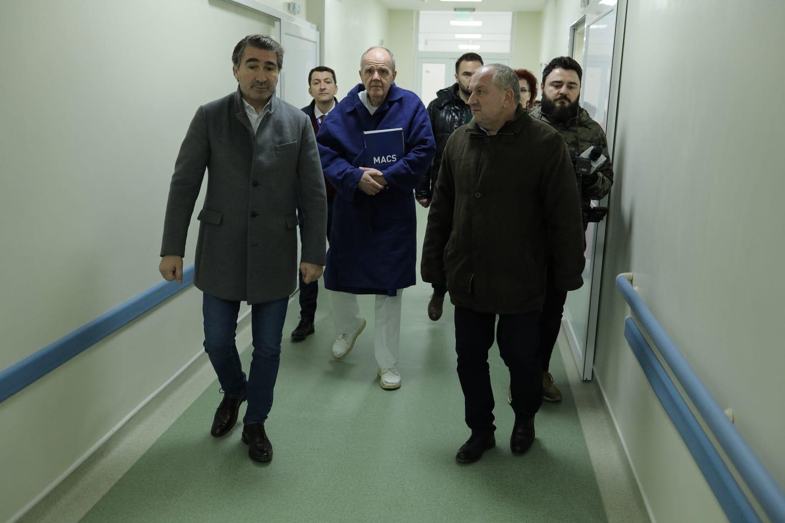 Președintele Consiliului Județean a verificat stadiul lucrărilor de modernizare de la Spitalul Piatra Neamț