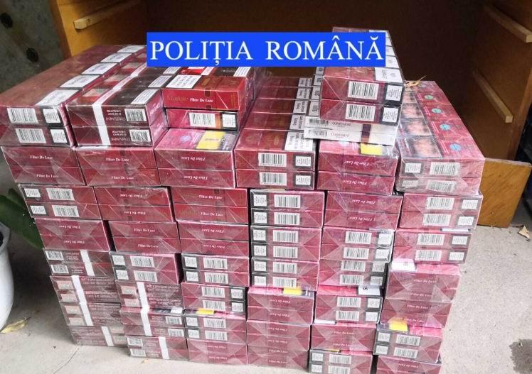 Peste 9.000 de ţigări confiscate de poliţişti, în urma unei percheziţii la Pâncești