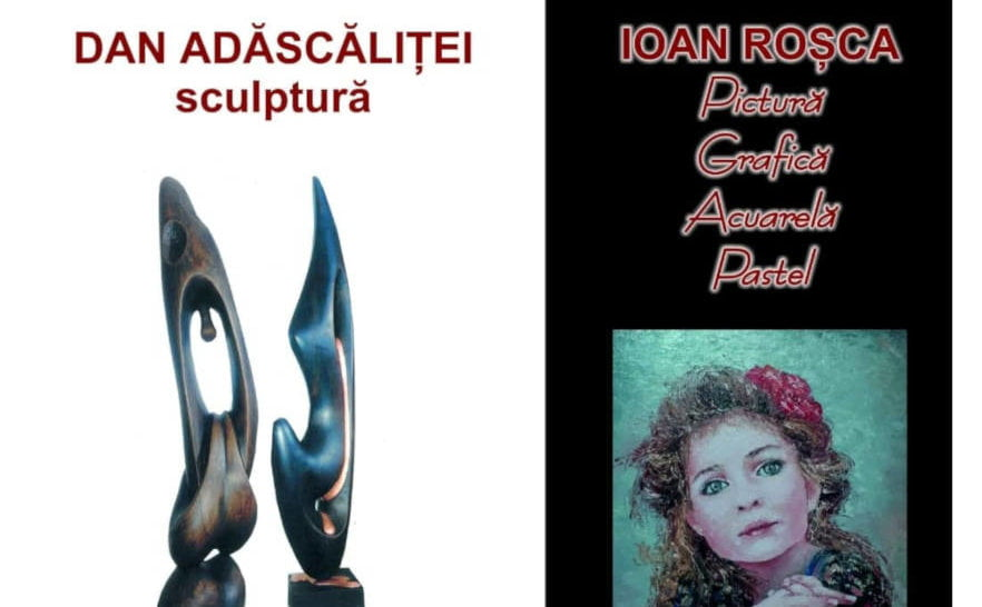 Duo pictural şi sculptural la Muzeul de Artă din Roman: Ioan Roşca şi Dan Adăscăliţei