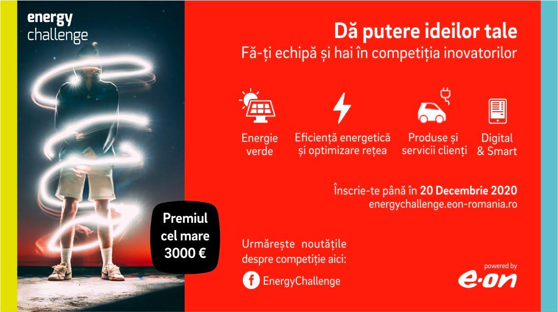 Competiția E.ON Energy Challenge ia startul, premiile totale puse în joc fiind de peste 4.500 de euro