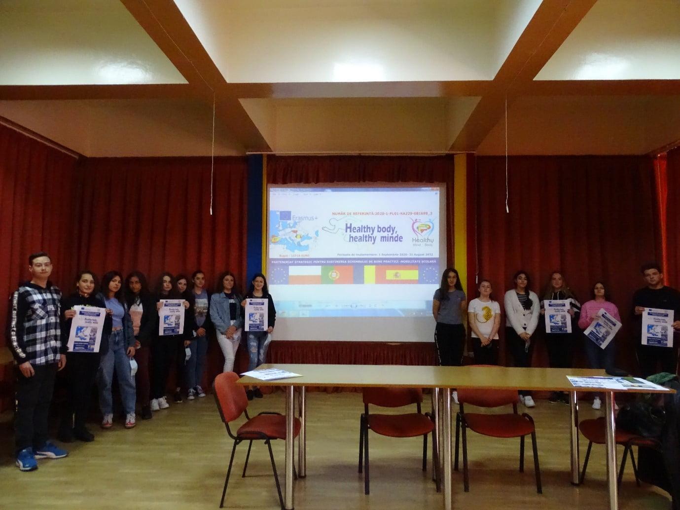 """Activități în cadrul proiectului Erasmus+ """"Healthy body, healthy mind"""", la Colegiul Tehnic """"Petru Poni"""""""