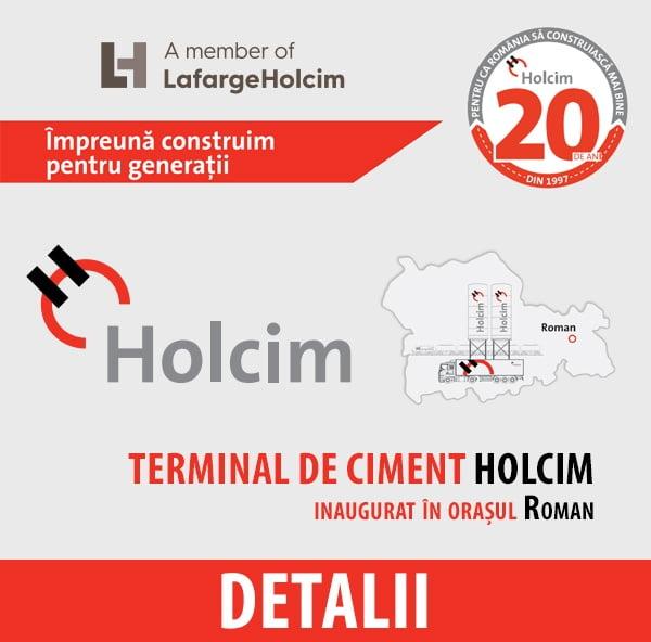 Holcim România – Plan de dezvoltare în orașul Roman