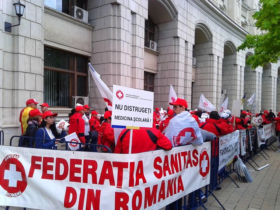 Federația SANITAS din România a decis să răspundă cu proteste la nepăsarea guvernanților