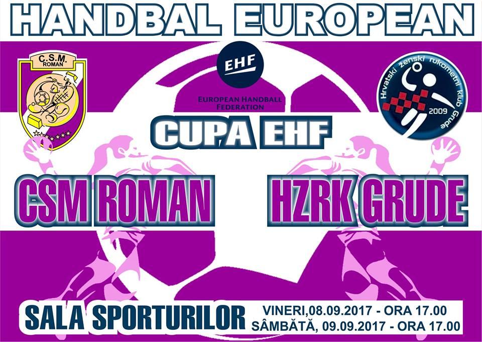 Vineri, CSM Roman începe al patrulea parcurs consecutiv în cupele europene