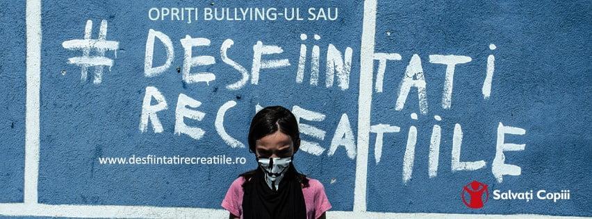 """[VIDEO] """"Opriți bullying-ul sau desființați recreațiile"""", campanie a Organizatiei Salvați Copiii"""