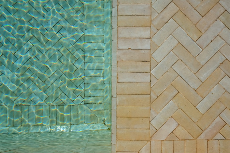 zellige tiles deck out the outdoors