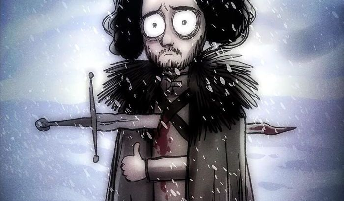 I personaggi di Game Of Thrones in versione cartoons