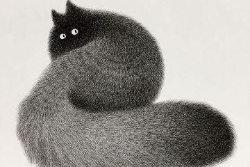 Artista malese disegna  simpatici gatti usando solo inchiostro e una penna a punta sottile e i risultati sono incredibilmente belli