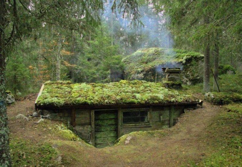 In Svezia ci sono delle case che sono sotterrate. Le backstuga