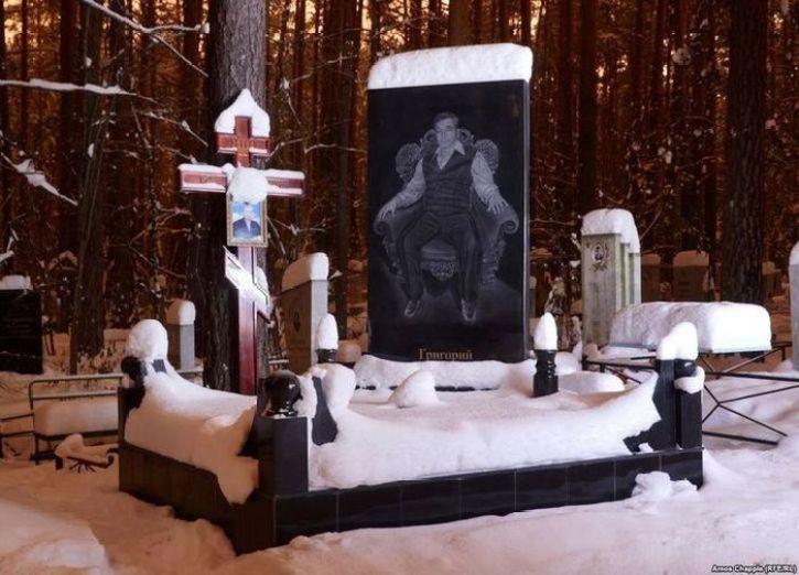 Il cimitero dei gangster di Shirokorechenskoe in Russia
