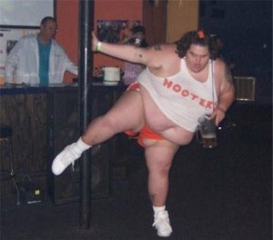 99f10ebb43f35111df79355cb12602fd-fat-girl-in-hooters-uniform-pole-dances-with-pitcher-of-beer