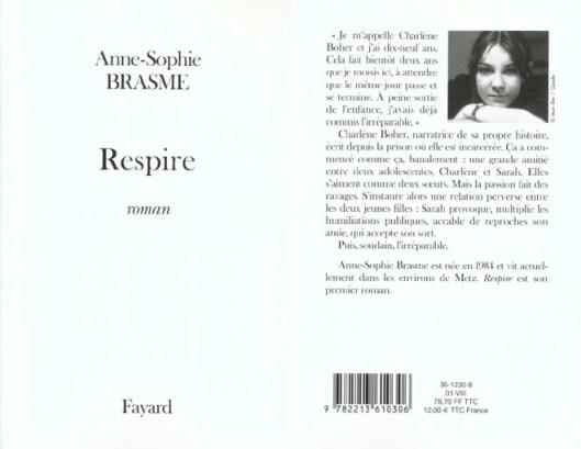 """Couverture du livre """"Respire"""""""