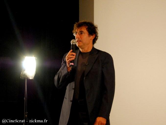 Albert Dupontel lors du débat qui a suivi la projection en avant-première organisée chez Ciné +