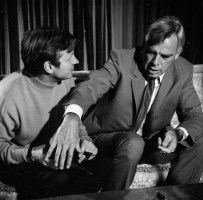 John Boorman et Lee Marvin pendant le tournage.